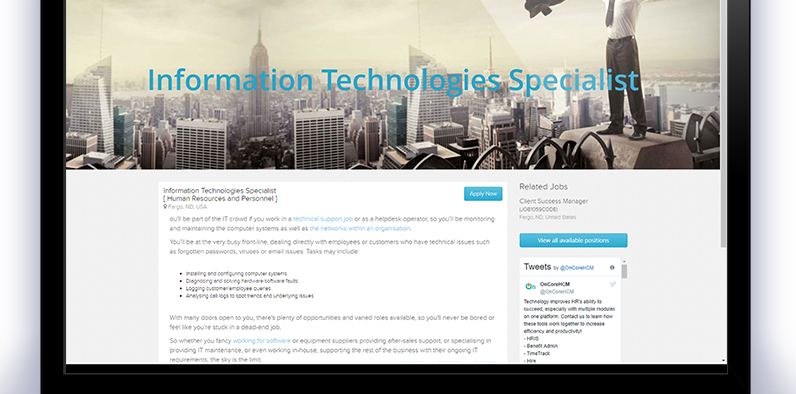 OnCore hire Information Technology Specialist
